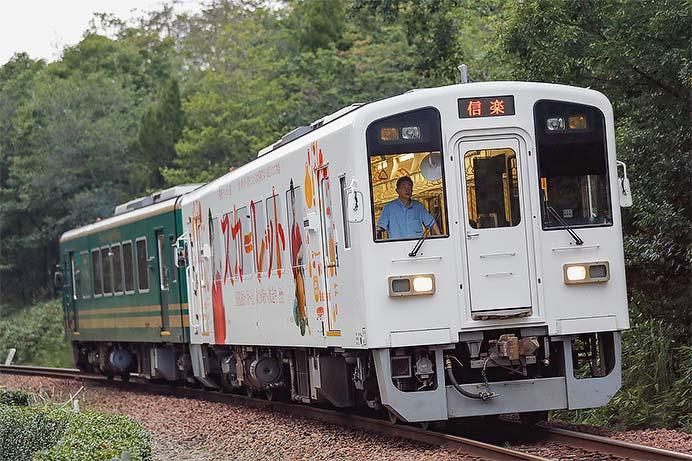 信楽高原鐵道で「スカーレット」ラッピング車両の運転開始