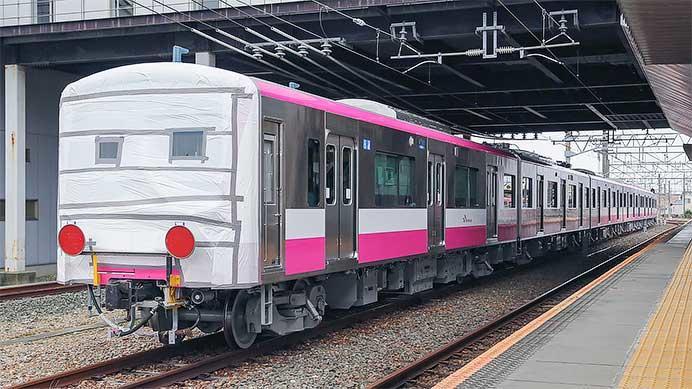 新京成電鉄80000形80016編成が甲種輸送される