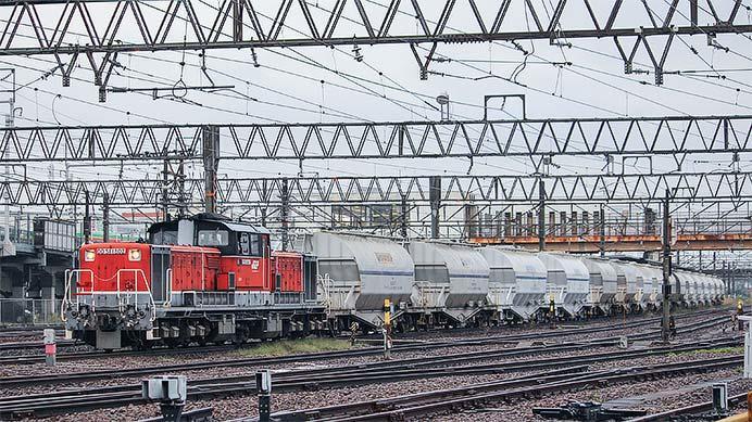 DD51 1802が白ホキ列車をけん引