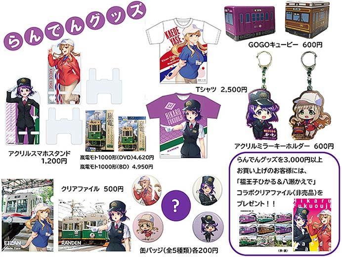 嵐電,「駅祭ティング2019 in 天王寺公園」会場で嵐電グッズなどを発売