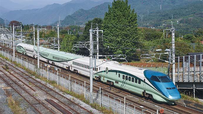 「とれいゆつばさ」が上越新幹線に入線
