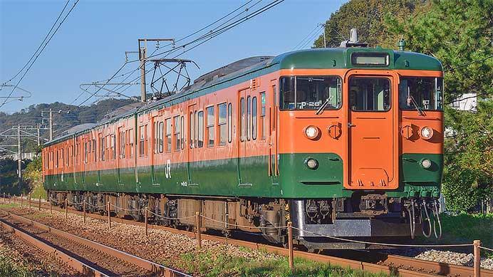115系D-26編成(湘南色)によるビール列車運転