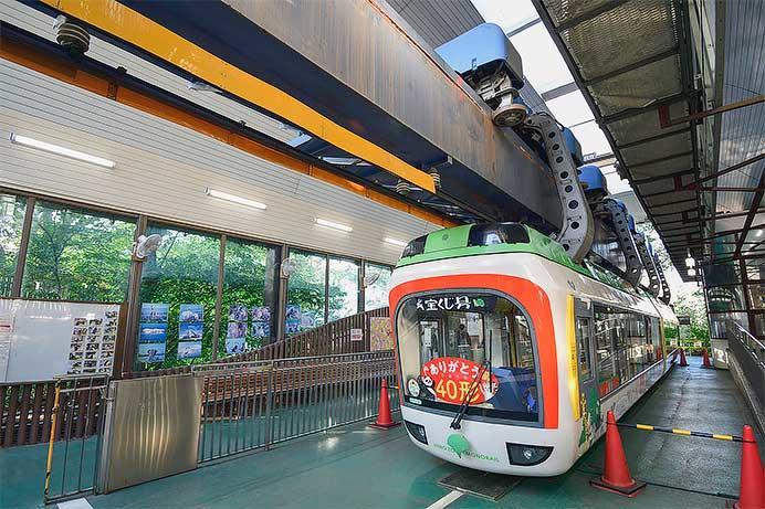 上野動物園モノレールの車両展示が始まる