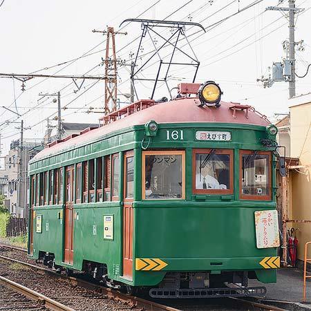 阪堺電軌でモ161による臨時列車運転