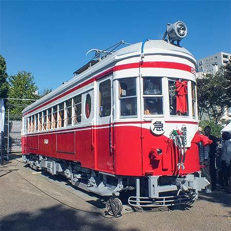 岐阜市金公園で『丸窓電車お披露目会』開催