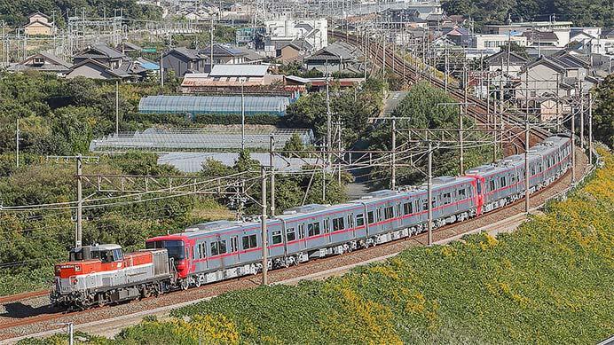 名鉄9500系2本が甲種輸送される
