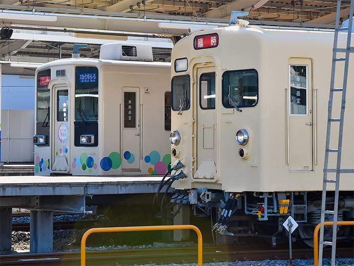 東武8000系8111編成による臨時列車が運転される