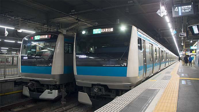 京浜東北線品川駅北行ホームが移設される