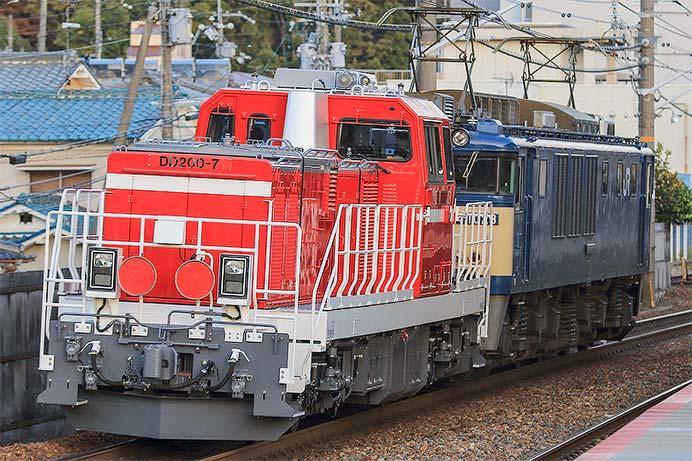 DD200-7が甲種輸送される