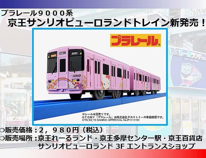 プラレール 京王9000系「京王サンリオピューロランドトレイン」発売