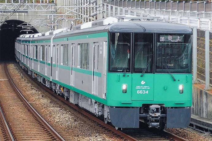 神戸市交6000形6134編成が営業運転を開始