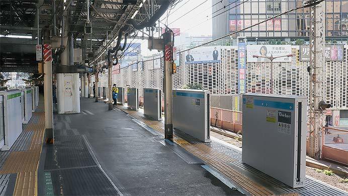 京浜東北線新橋駅に可動式ホーム柵が設置される