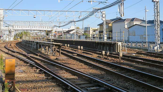 名鉄西枇杷島駅の待避線が撤去される