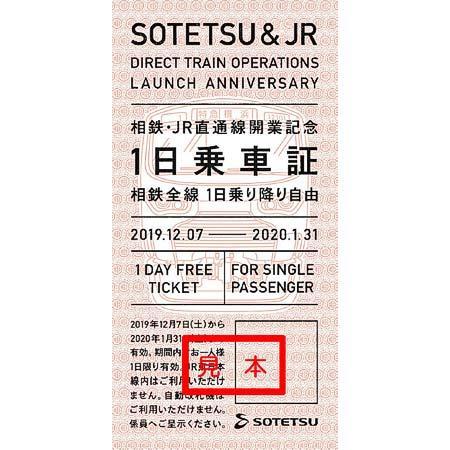 相鉄・JR直通線の開業を記念して「1日乗車証」10000枚を無料配布