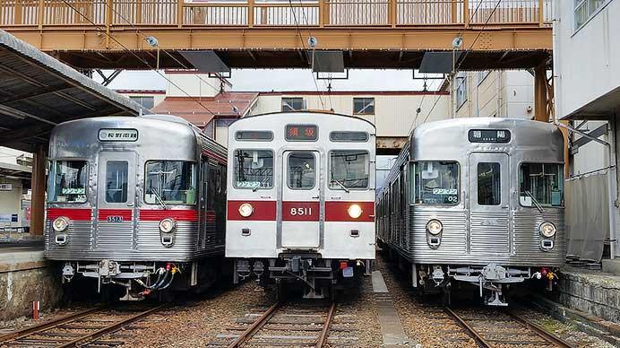 長野電鉄で『さよならO2編成イベント』が開催される