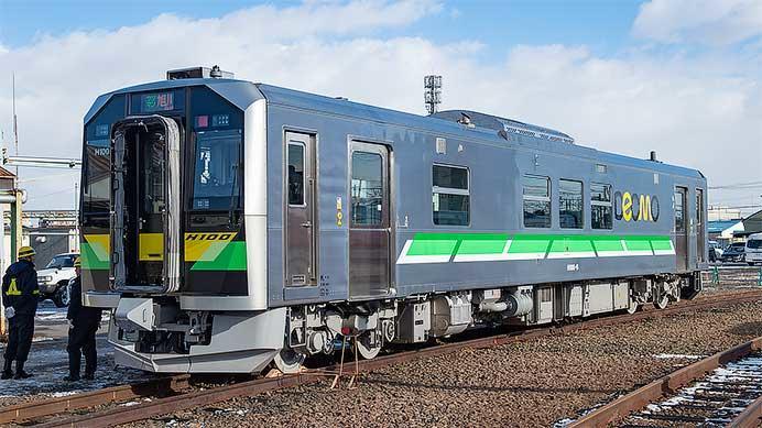 JR北海道,H100形量産車を報道陣に公開