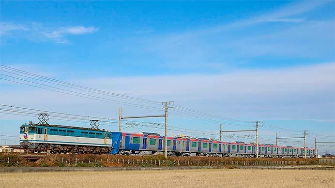 首都圏新都市鉄道TX-3000系第2編成が甲種輸送される