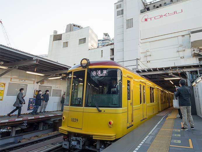銀座線渋谷駅でこれまでのホームの使用を終了