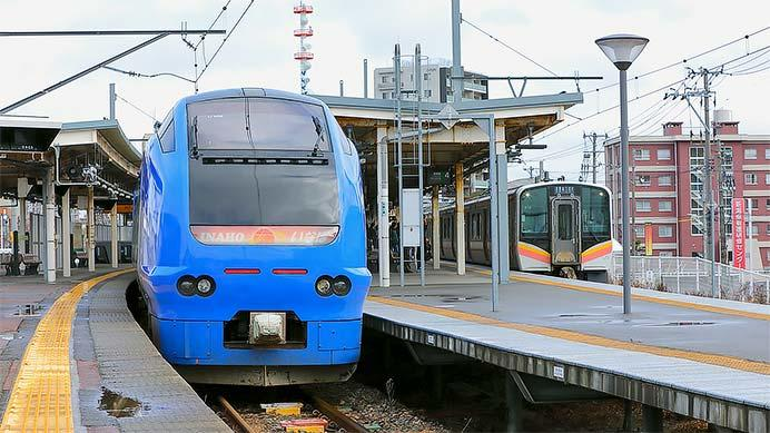 E653系U106編成が白山駅に回送される