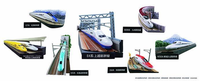 新幹線ミニジオラマフィギュア「月刊『鉄道ファン』監修 日本の新幹線コレクション1.5」発売