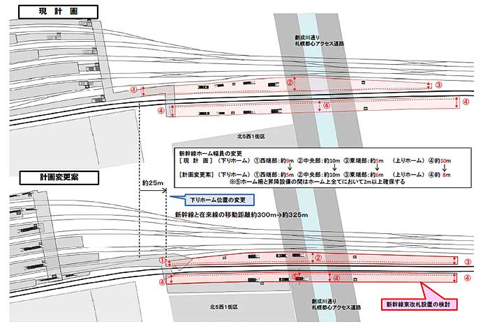 JR北海道,北海道新幹線札幌駅の工事実施計画を一部変更