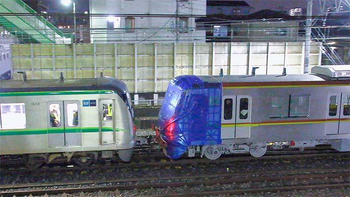 東京メトロ17000系が綾瀬車両基地へ