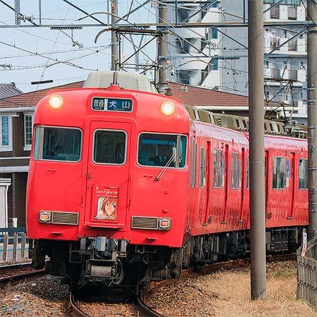 名鉄6000系にドラマ『名古屋行き最終列車』の系統板