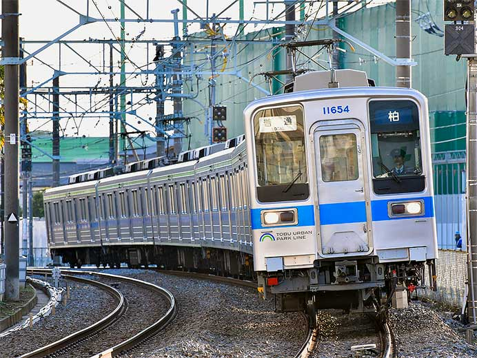 東武10030形50番台11654編成が野田線で営業運転開始