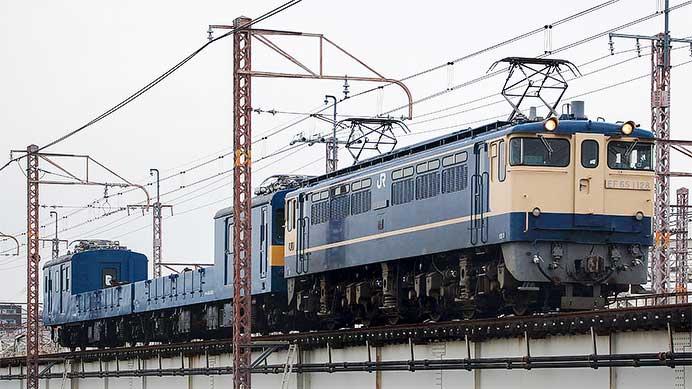 クル144-15+クモル145-1015が吹田総合車両所京都支所へ戻る