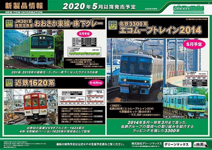 グリーンマックス,2020年5月以降の発売予定品を発表