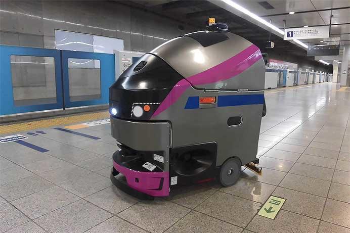 京王,5000系をイメージした自律走行式ロボット床面洗浄機を導入