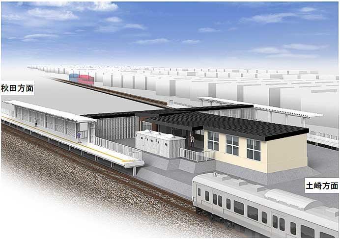 奥羽本線 秋田—土崎間の新駅の名称を「泉外旭川」に決定