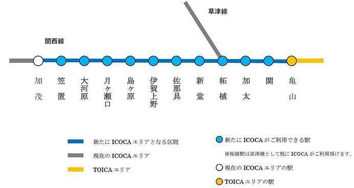 JR西日本,2021年春から関西本線のICOCAエリアを拡大