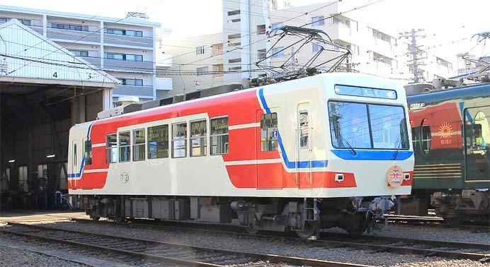 叡電,「三陸鉄道カラー」車両の運転期間を9月30日まで延長