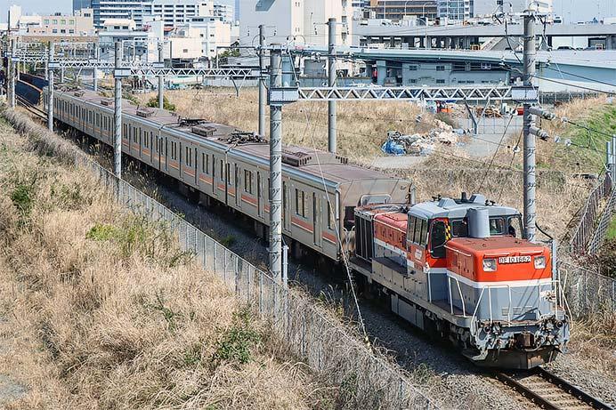 東急3000系第6編成が総合車両製作所横浜事業所へ
