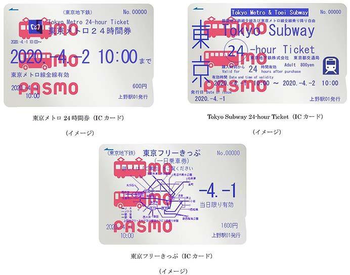 「東京メトロ24時間券」などをPASMOで発売