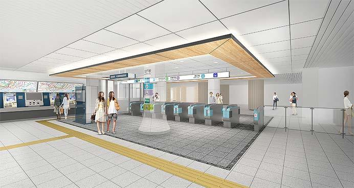 東京メトロ・東京都交通局,3月14日から九段下駅3線共通改札口の供用を開始