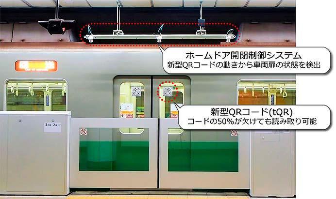 デンソーウェーブ,「tQR®」を用いたホームドア開閉制御システムを西神・山手線三宮駅に導入