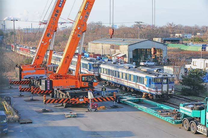 キハ47形7両が新潟東港(藤寄)へ