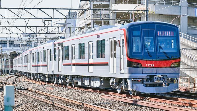 東武70090形71793編成が試運転