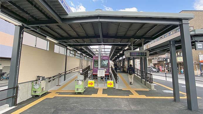 嵐電北野白梅町駅の新駅舎が供用開始される