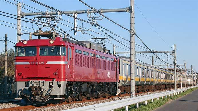 E231系B80編成が秋田総合車両センターへ