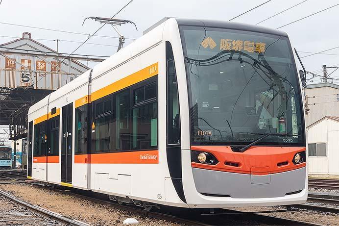 阪堺電軌1101形が営業運転を開始