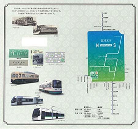 「えこまいか 記念ICカード」台紙(内側)