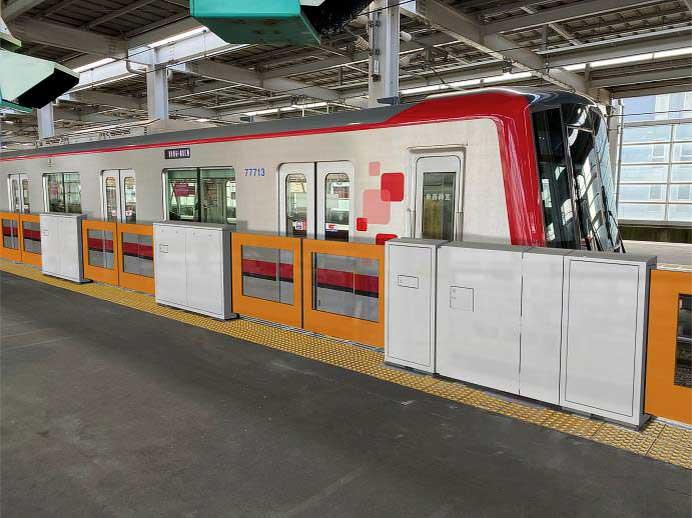 東武伊勢崎線北越谷駅1番ホームで6月7日からホームドアの使用を開始