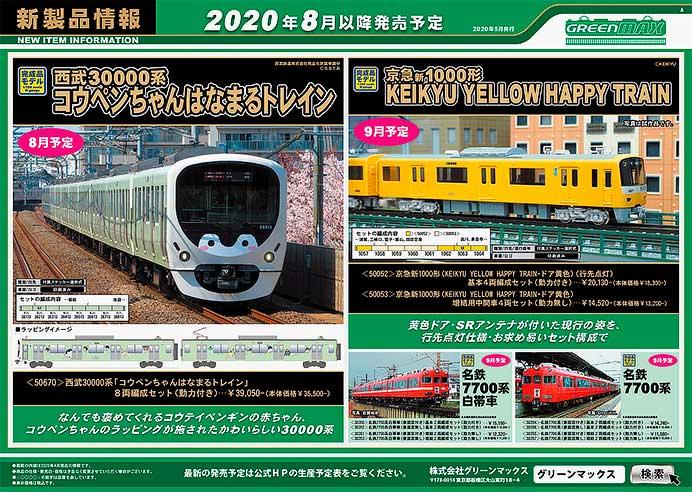 グリーンマックス,2020年8月以降の発売予定品を発表