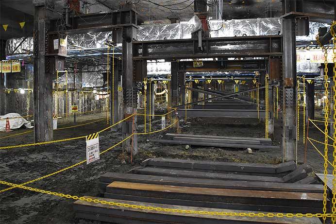 工事中の地下2階