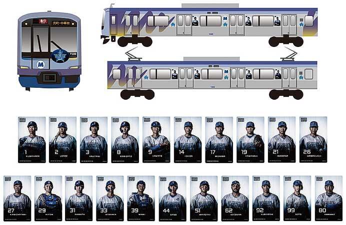 みなとみらい線で,ラッピング電車「YOKOHAMA DeNA BAYSTARS TRAIN 2020」運転