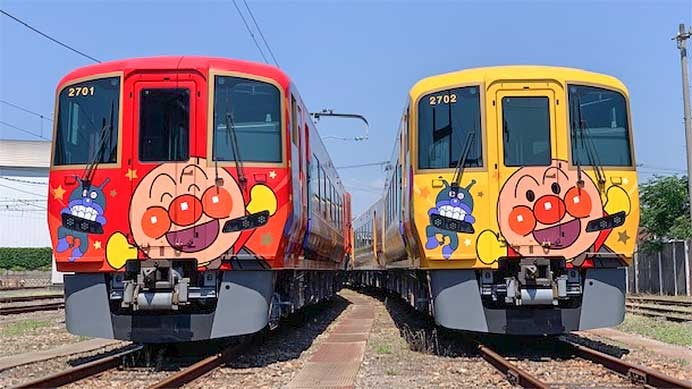 JR四国,2700系「土讃線アンパンマン列車」を報道陣に公開