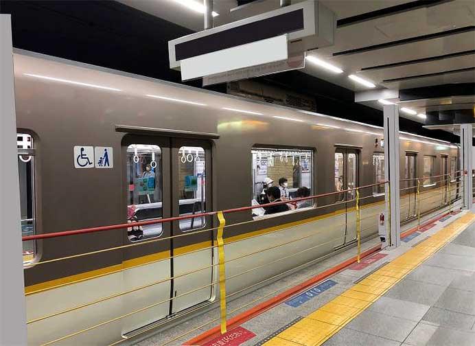阪神,神戸三宮駅2番線に可動式ホーム柵を設置